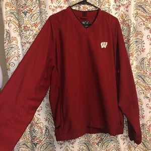 Adidas Wisconsin badgers crewneck L